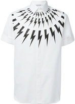 Neil Barrett lightning print shortsleeved shirt - men - Cotton - 39