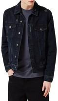 Topman Men's Distressed Denim Jacket
