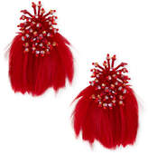 Mignonne Gavigan Mini Delaney Bead & Feather Drop Earrings