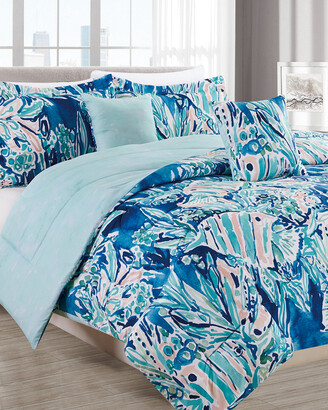 Melange Home Barbarian Here Fishie 5Pc Comforter Set