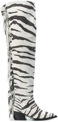 A.F.Vandevorst zebra over the knee boots