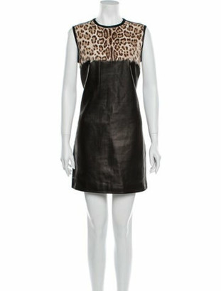 Emilio Pucci Animal Print Mini Dress Brown