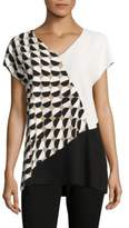Lafayette 148 New York Charlize Colorblock Blouse