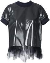 Kolor tulle trim T-shirt