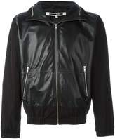 McQ panelled leather jacket