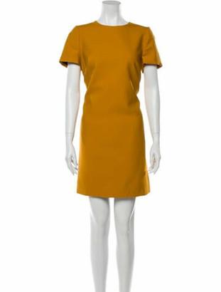 Judith & Charles Crew Neck Mini Dress Yellow