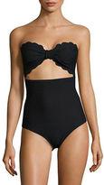 Kate Spade Marina Piccola Cutout Strapless One-Piece Swimsuit