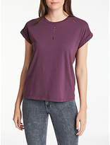 Lee Short Sleeve Distress T-Shirt, Deep Plum