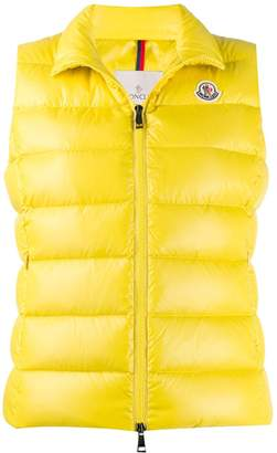 Moncler padded logo patch gilet