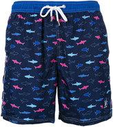 Paul & Shark fish print swim shorts - men - Polyester - S