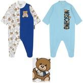 Moschino MoschinoBoys Blue Teddy Bear Babygrow Gift Set (2 Piece)