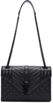 Saint Laurent Black Medium Envelope Chain Bag