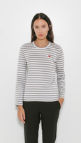 Comme des Garcons Small Heart Striped T