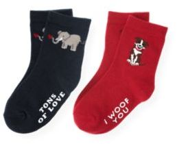 Janie and Jack Valentine Sock Two-Pack