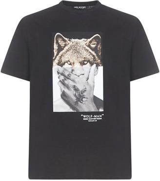 Neil Barrett Wolf Man Short Sleeve T-shirt