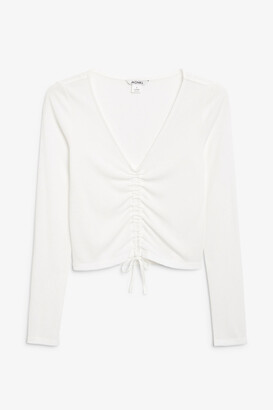 Monki Long-sleeve ruche top