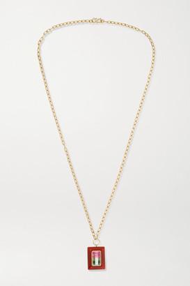 Retrouvaí Lollipop 14-karat Gold, Carnelian And Tourmaline Necklace - one size