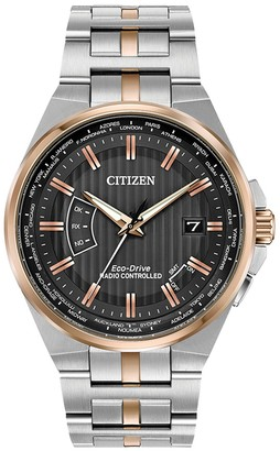 Citizen Men's World Perpetual A-T Eco-Drive Stainless Steel Watch, 42mm