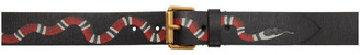 Gucci Black Kingsnake Belt