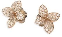 Pasquale Bruni 18K Rose Gold Petit Garden White & Champagne Flower Stud Earrings
