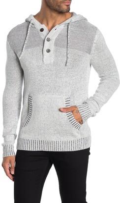 Hedge Marled Henley Sweater Hoodie