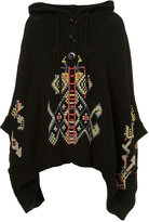 Topshop Knitted Cross Stitch Poncho
