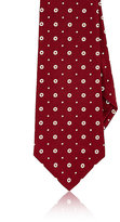 Kiton Men's Dotted Silk Necktie-RED