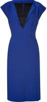 Alberta Ferretti Royal Blue/Black Wool/Satin Dress
