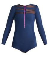 Cynthia Rowley Lightweight Mesh & Neoprene Swimsuit