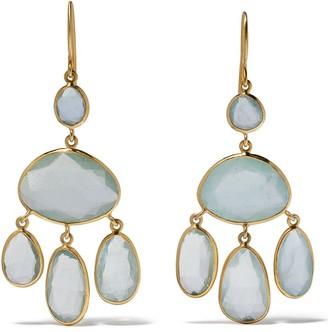 Pippa Small 18kt yellow gold Glacier Baby Jellyfish aquamarine earrings