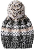 Joe Fresh Kid Girls' Fair Isle Sparkle Hat, Grey (Size L/XL)