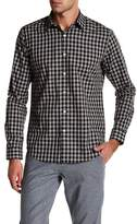 Theory Plaid Trim Fit Shirt