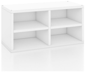 Way Basics Connect 2-Cube Shelf Rectangle