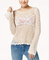 Hooked Up by IOT Juniors' Pointelle Sweater