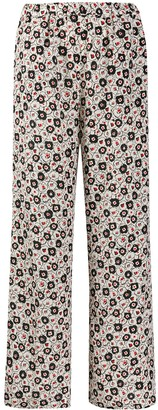 Aspesi Floral-Print Silk Trousers