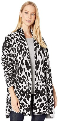 BCBGMAXAZRIA Leopard Cardigan (Gardenia Combo) Women's Clothing