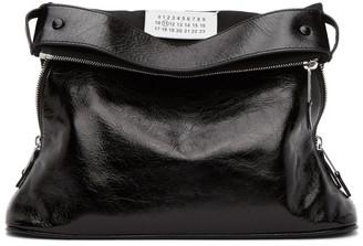 Maison Margiela Black 5AC Glossy Leather Pouch