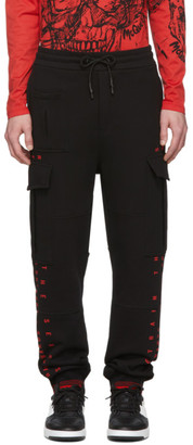 McQ Black Swallow Cargo Lounge Pants