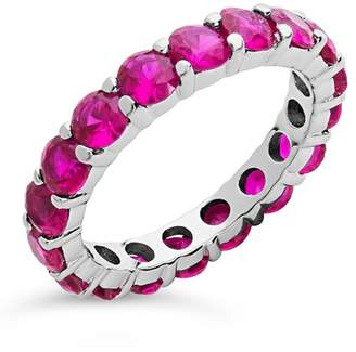 Sterling Forever Sterling Silver CZ Celebration Band Ring - Fuchsia