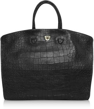 Coccinelle Angie Croco Soft Top Handle Bag