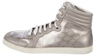 Gucci Imprimé High-Top Sneakers