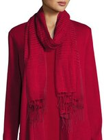 Eileen Fisher Airy Linen/Cashmere Scarf, Red