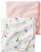 Carter's Baby Girl Floral & Geometric 2-pk. Swaddles