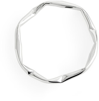 Arket Crunched Silver-Plated Bangle
