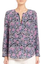 Joie Zahira Floral-Print Silk Blouse