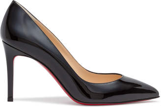 Christian Louboutin Pigalle 85 Black Patent Leather Pumps