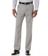 Perry Ellis Herringbone Flat-Front Pants