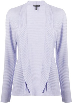 Eileen Fisher Ribbed Open Front Cardigan