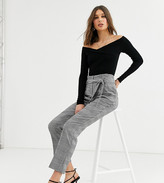 New Look Tall slim leg pant in check