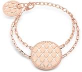 Rebecca Melrose Rose Gold Over Bronze Bracelet w/Round Charms